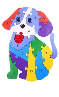 Пазл объемный Собака 16 элементов - фото 4577
