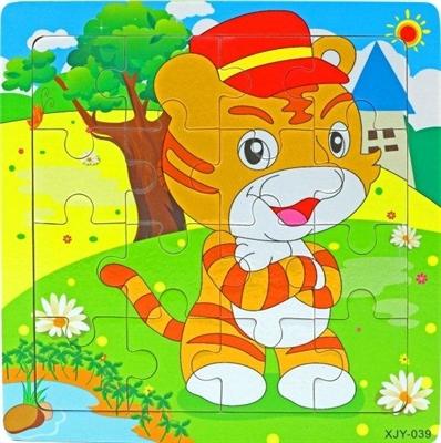 Пазл 16 эл Хитрый кот - фото 5087