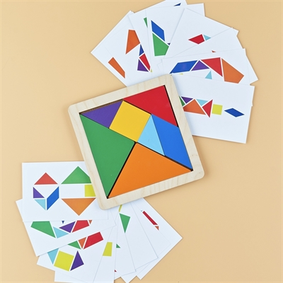 Головоломка Танграм с карточками - фото 6276