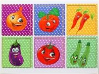 Пазлы из 4 элементов Овощи