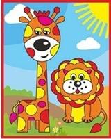 Аппликация песочком Жирафик
