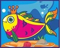 Аппликация песочком Рыбка