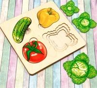 """Больше-меньше """"Овощи"""" развивающая доска"""