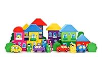 Конструктор «Цветной городок» большой 41 дет.
