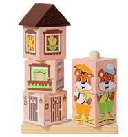 Кубики на полочке Мишка