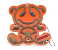 Лабиринт магнитный Мишка оранжевый