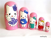 Матрешка Китти 5 кукольная