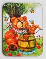 """Пазл """"Медвежонок и мед"""""""