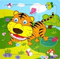 Пазл на 9 эл. Тигр