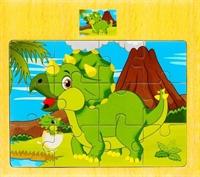 """Пазлы 12 эл. """"Динозавр с динозавриком"""""""