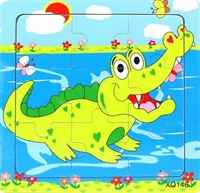 """Пазлы малые в ассорт. """"Крокодил"""""""