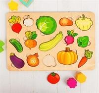 """Развивающая доска """"Большие овощи"""""""