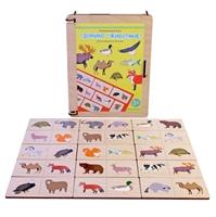 Развивающая игра Домино Животные