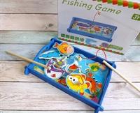 Рыбалка с рыбками и озером, 12 рыбок, 2 удочки