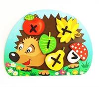 Шнуровка «Ёжик с грибочком и яблоком на спине»