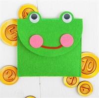 Кошелёк с монетами Лягушка