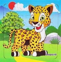 Пазлы 16 эл.  Леопард