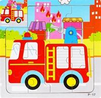 Пазлы 15 эл.  Пожарная машина