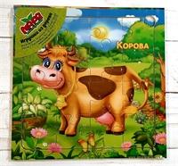 Пазл на 16 эл. Корова