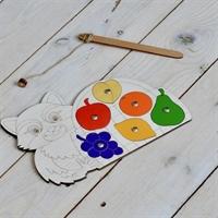 Магнитная игра Енот с фруктами