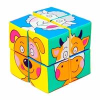 """Кубики """"Собери картинку Зверята"""", 8 кубиков"""