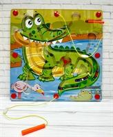 Лабиринт магнитный Крокодил