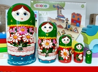 Матрешка Ромашка 5 кукольная