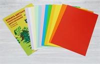 Бумага цветная тонированная двухсторонняя, 12 цв/12 листов