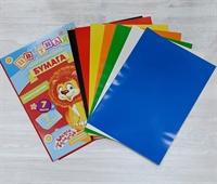 Бумага самоклеящаяся цветная А4, 7 листов, 7 цветов