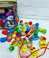 Шнуровка 46 элементов в новогодней упаковке
